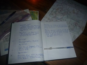 Logbook at Tin Hat Hut