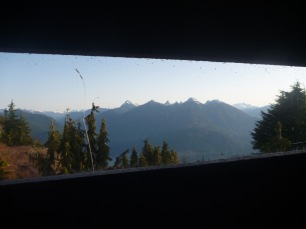 Even the outhouse has amazing views!