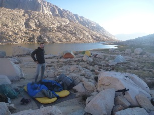 Cowboy Camping at Guitar Lake along the JMT 2015